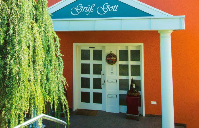 Der Eingang zur Ferienwohnung Haus Hornisgrindeblick